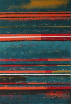 Midnight Orange, Painting, Acrylic on Canvas