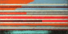 NEON POP ART LINES, Painting, Acrylic on Canvas