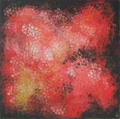 Red Black Bubbles, Painting, Acrylic on Canvas