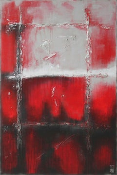 Red - Up You Go, Painting, Acrylic on Canvas