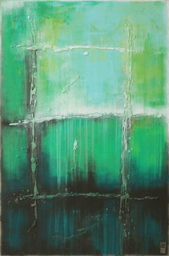 Sea Green UP, Painting, Acrylic on Canvas