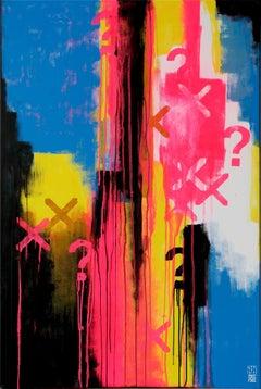 Typopop Neon, Painting, Acrylic on Canvas