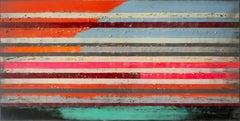 XL Neon Pop Art Lines, Painting, Acrylic on Canvas