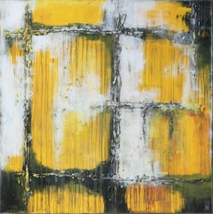 Yellow Textured XL, Painting, Acrylic on Canvas