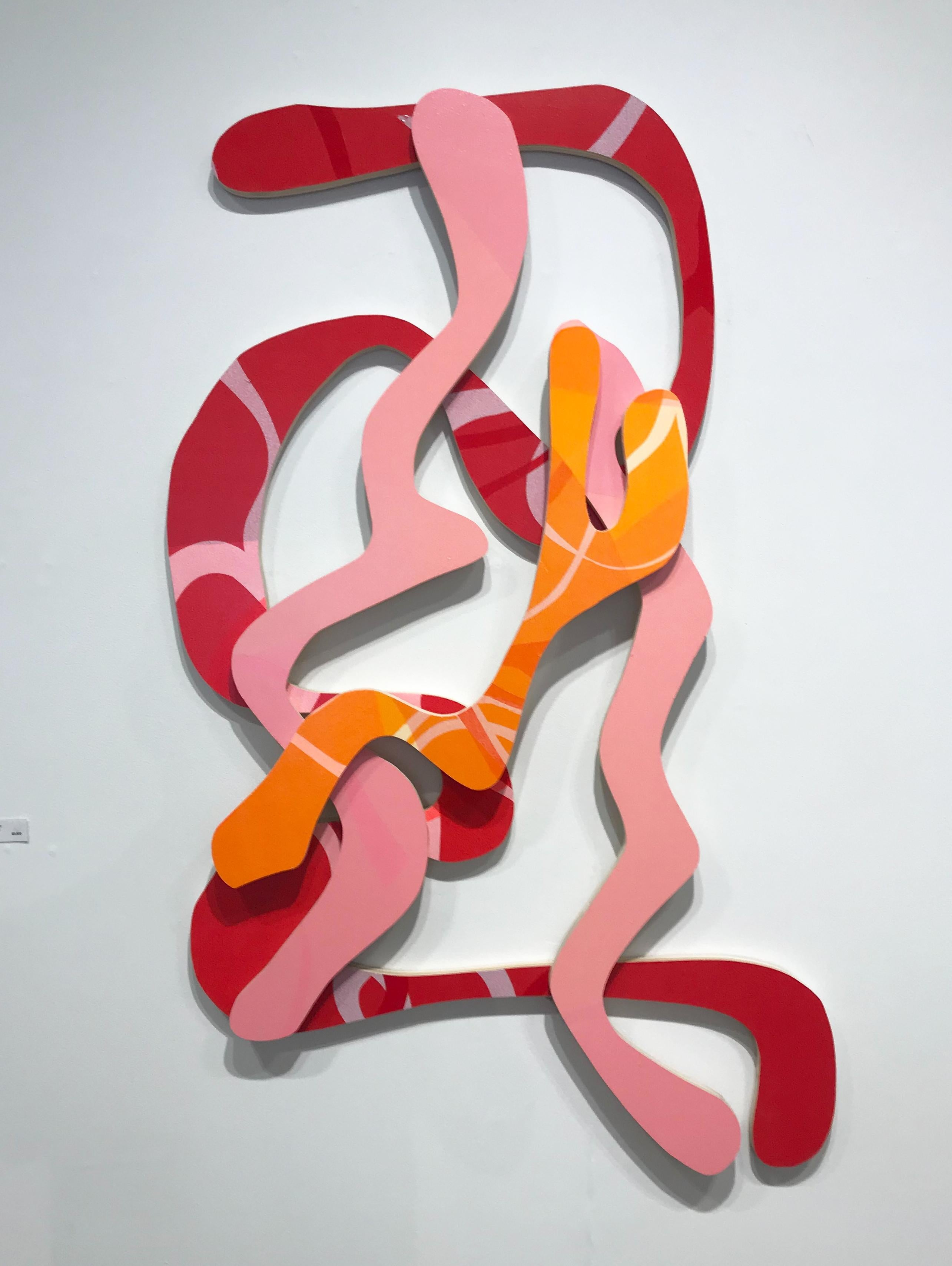 """""""It Must Be True"""", Contemporary, Abstract, Painting, Wall Sculpture, Wood, Paint"""