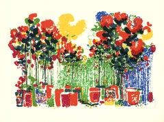 "Ronald Julius Christensen-Potted Flowers-29.75"" x 40""-Serigraph-1980"