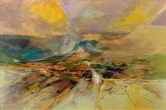 Valley Glide. Original Modern British Painting. Landscape. Mid-20th Century.1968