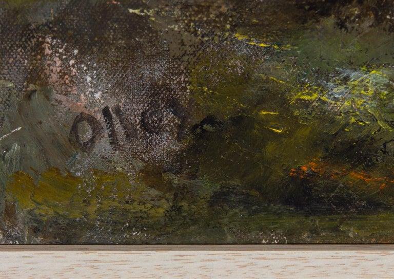 Ronald Olley (b.1923) - Signed & Framed c. 2000 Oil, Horses Slain in Mud For Sale 2
