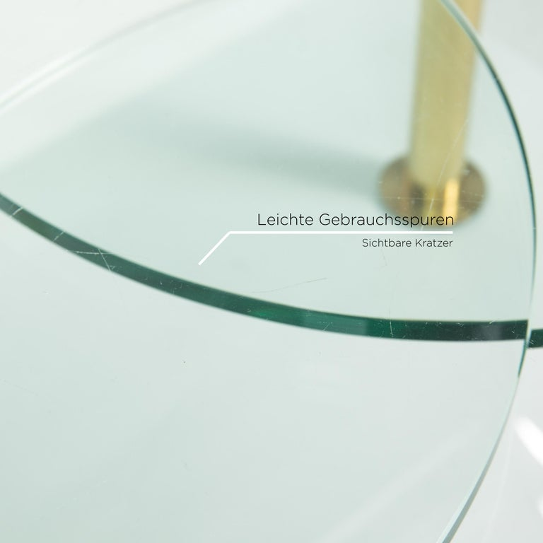 Ronald Schmitt Glass Coffee Table Gold Function Adjustable Table In Good Condition For Sale In Cologne, DE