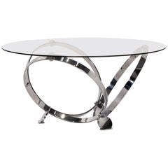 Ronald Schmitt Glass Coffee Table Metal Table Knut Hesterberg