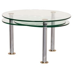 Ronald Schmitt K 180 Glass Coffee Table Silver Function Extendable