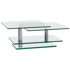 Ronald Schmitt K 500 Glass Coffee Table Metal Table Function Adjustable