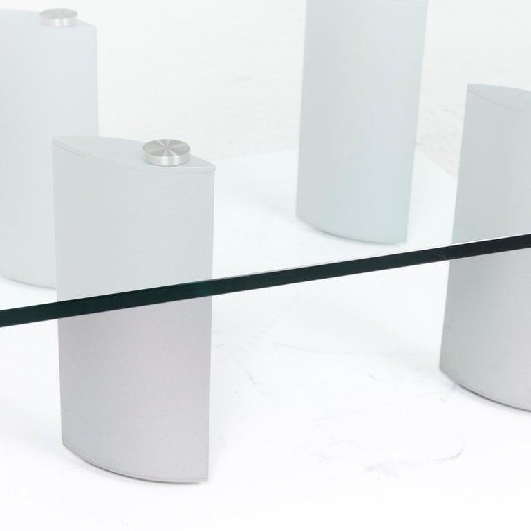 Modern Ronald Schmitt Silver Glass Coffee Table