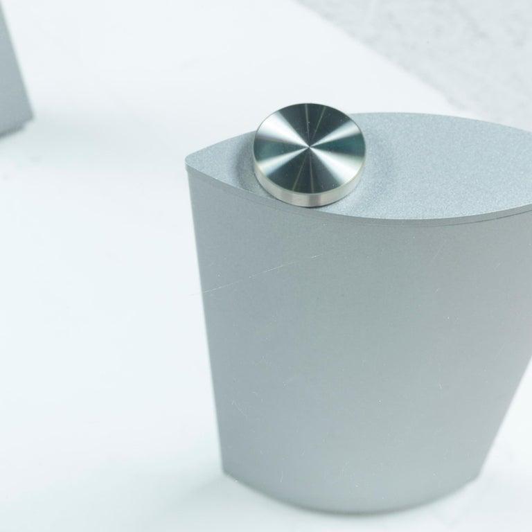 European Ronald Schmitt Silver Glass Coffee Table