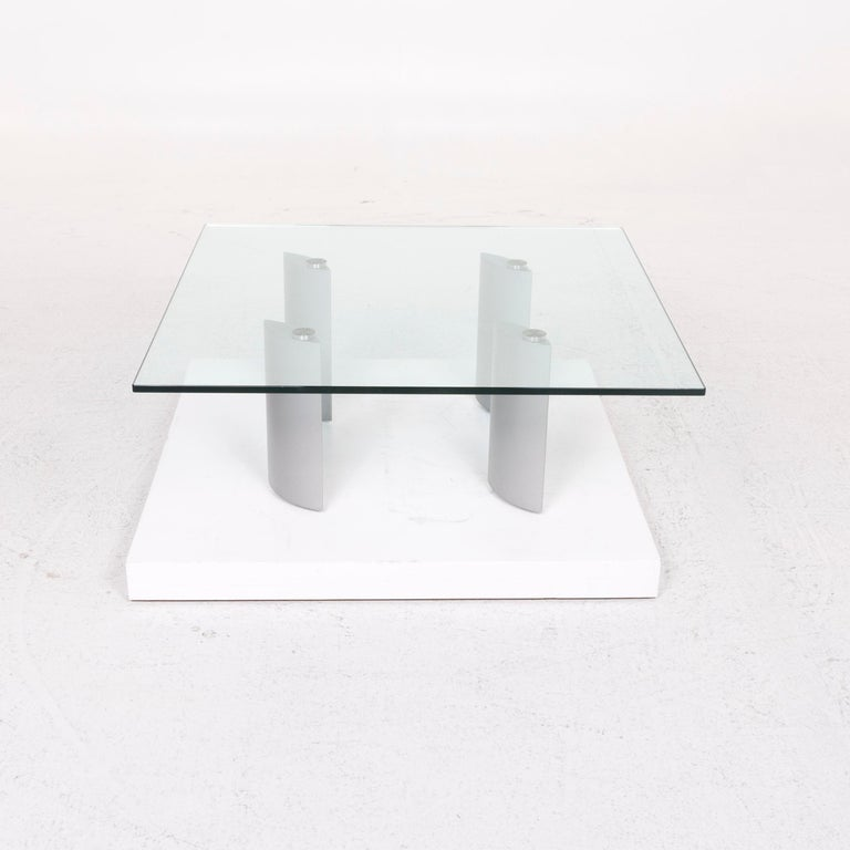 Ronald Schmitt Silver Glass Coffee Table In Good Condition In Cologne, DE