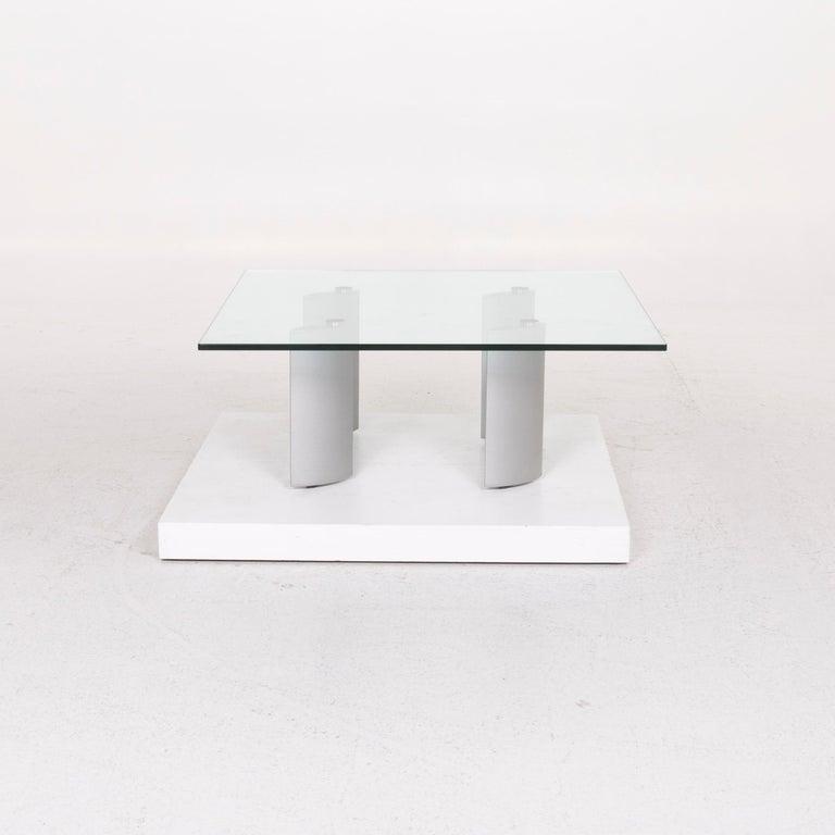 Contemporary Ronald Schmitt Silver Glass Coffee Table