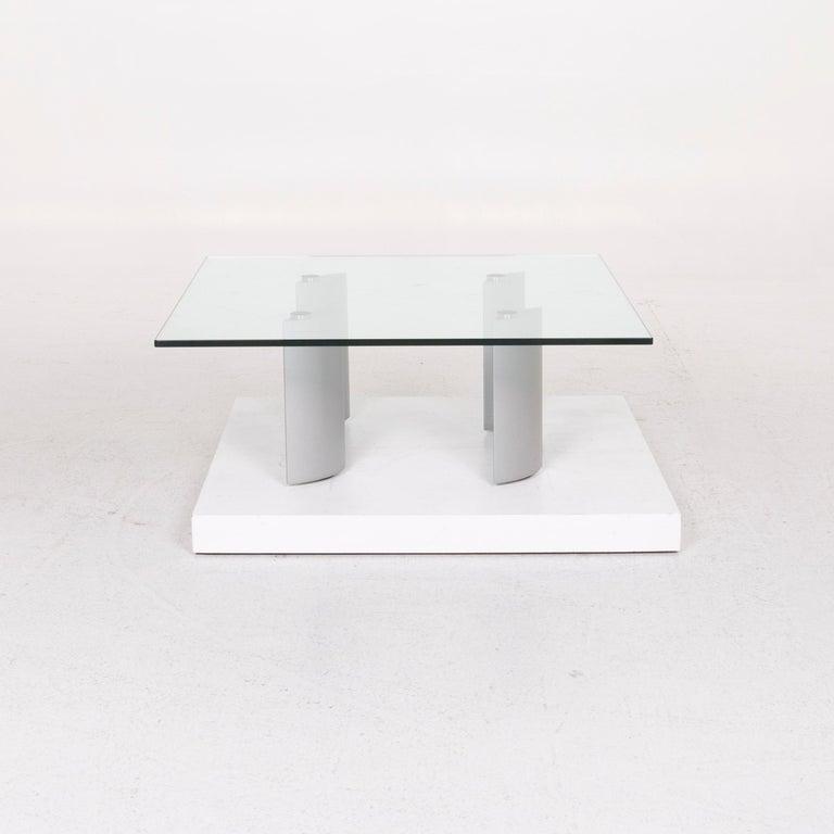 Ronald Schmitt Silver Glass Coffee Table 2