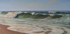 'Beach View', Cape Cod Modern Impressionist Marine Oil Painting