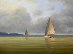 'Calm Before the Storm', Cape Cod Modern Impressionist Marine Oil Painting