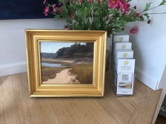 'Fall Beach Scene', Cape Cod Modern Impressionist Marine Oil Painting