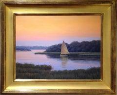 'Hushed', Cape Cod Modern Impressionist Marine Oil Painting