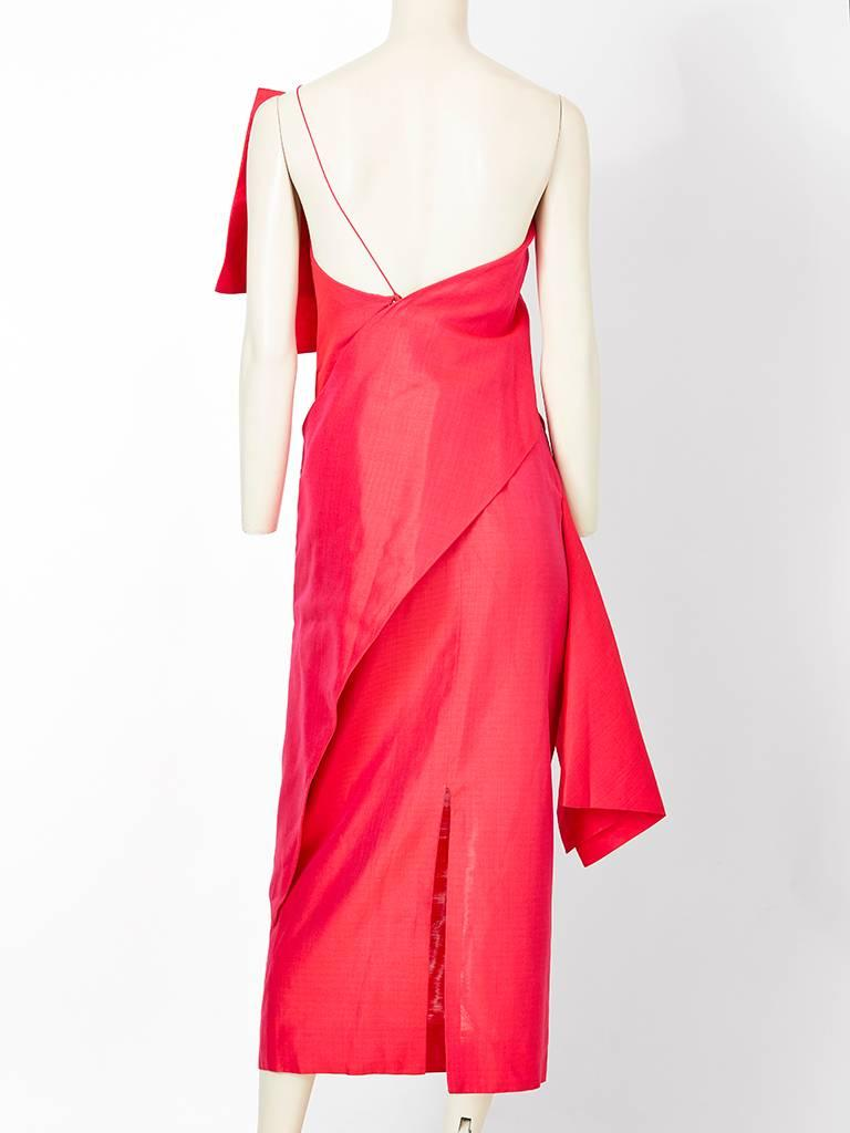 Ronaldus Shamask One Shoulder Dress In Excellent Condition For Sale In New York, NY