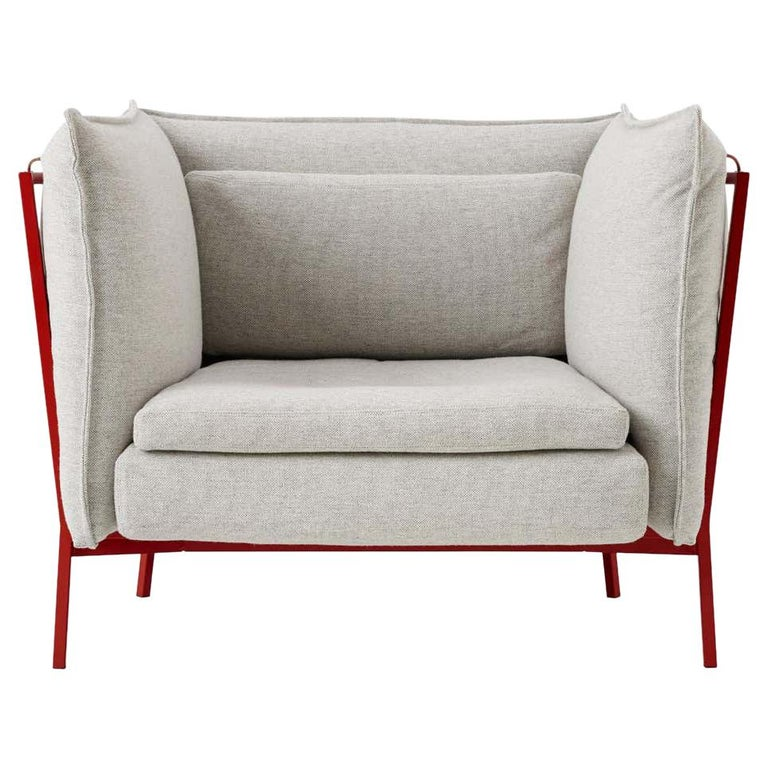 Ronan and Erwan Bouroullec Basket 011 Armchair in Cream Hero for Cappellini For Sale