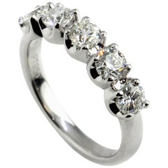 Five Diamond Crown Eternity Ring