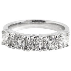 GIA Certified 2.00 Carat Diamond Eternity Ring