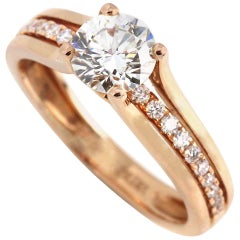 Rose Gold Split Should Diamond Engagement Ring