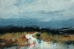 Atmospheric Blue, Abstract Oil Painting