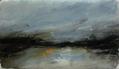 Focus: Spear Lake, Abstract Oil Painting