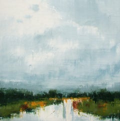 On Spear Woods, Abstract Oil Painting