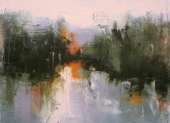 Stewart's Stream, Abstract Oil Painting