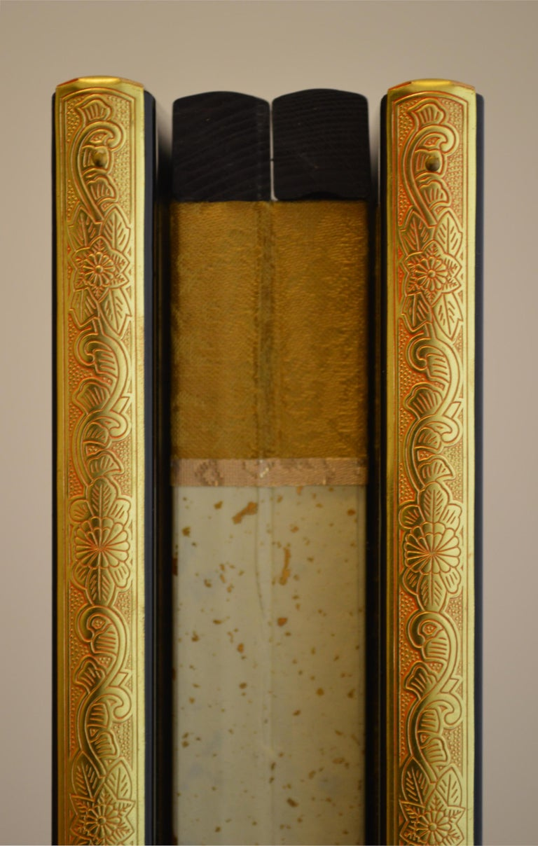 Contemporary Ronde, Hand Painted Nihonga Screen For Sale