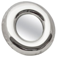 Rondel 36 Polished Stainless Steel Wall Mirror by Zieta