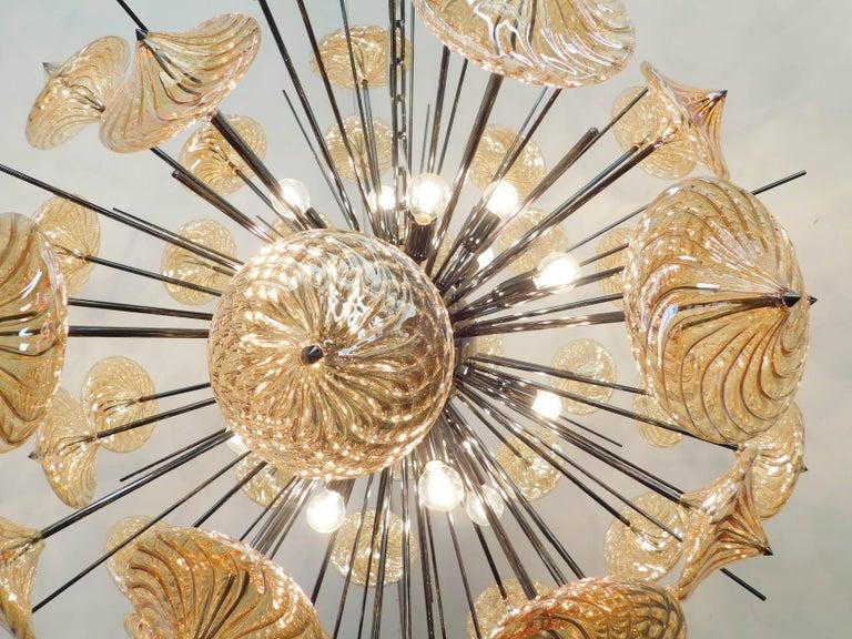 Polished Rondella Sputnik Chandelier by Fabio Ltd For Sale