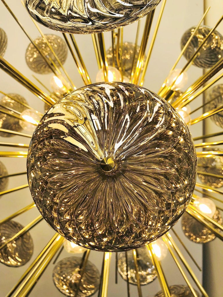 Brass Rondella Sputnik Chandelier by Fabio Ltd For Sale