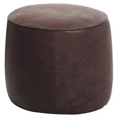 Rondò Brown Leather Pouf