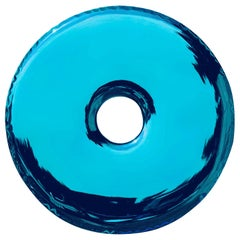 Rondo Mirror 'Deep Space Blue' in Stainless Steel by Zieta Prozessdesign