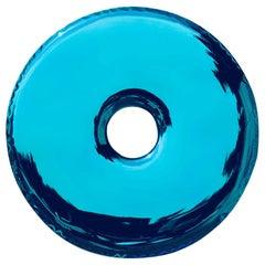 Rondo Mirror 'Deep Space Blue' in Stainless Steel by Zieta