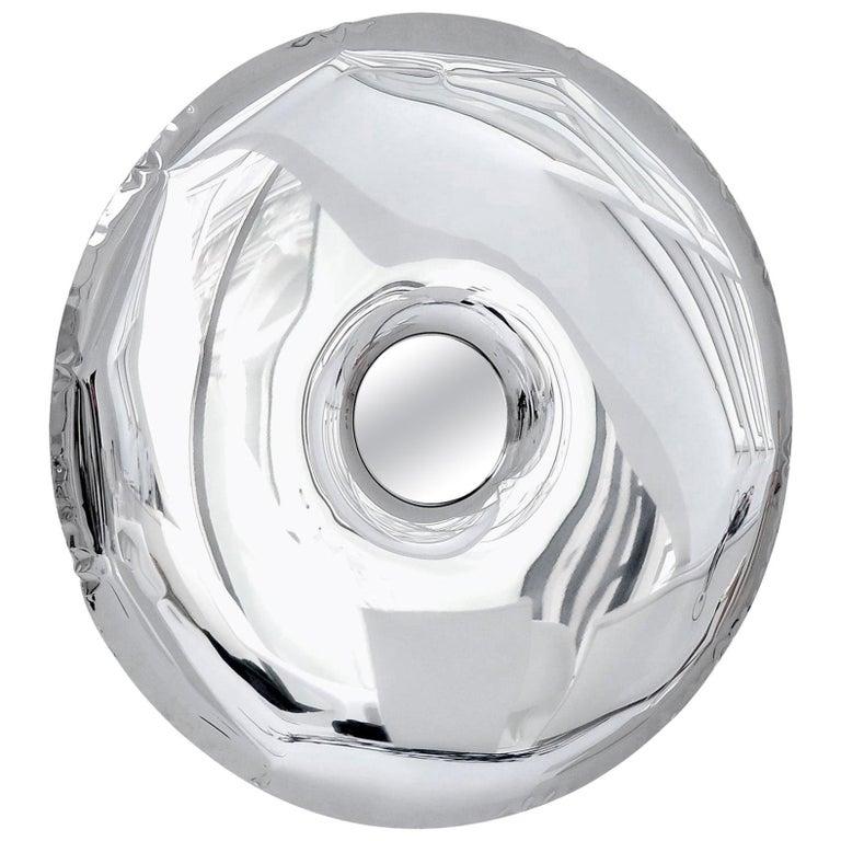 Rondo Original Decorative Wall Mirror in Stainless Steel, Zieta For Sale