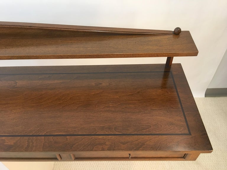 Walnut Ronnie Brahms for H. Sacks Wall Mounted Console Server For Sale
