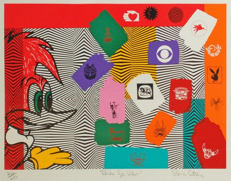 Ronnie Cutrone Figurative Print - Bird's Eye View