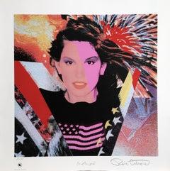 Cindy Crawford, Pop Art silkscreen by Ronnie Cutrone