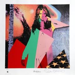 Elle McPherson, Pop Art silkscreen by Ronnie Cutrone