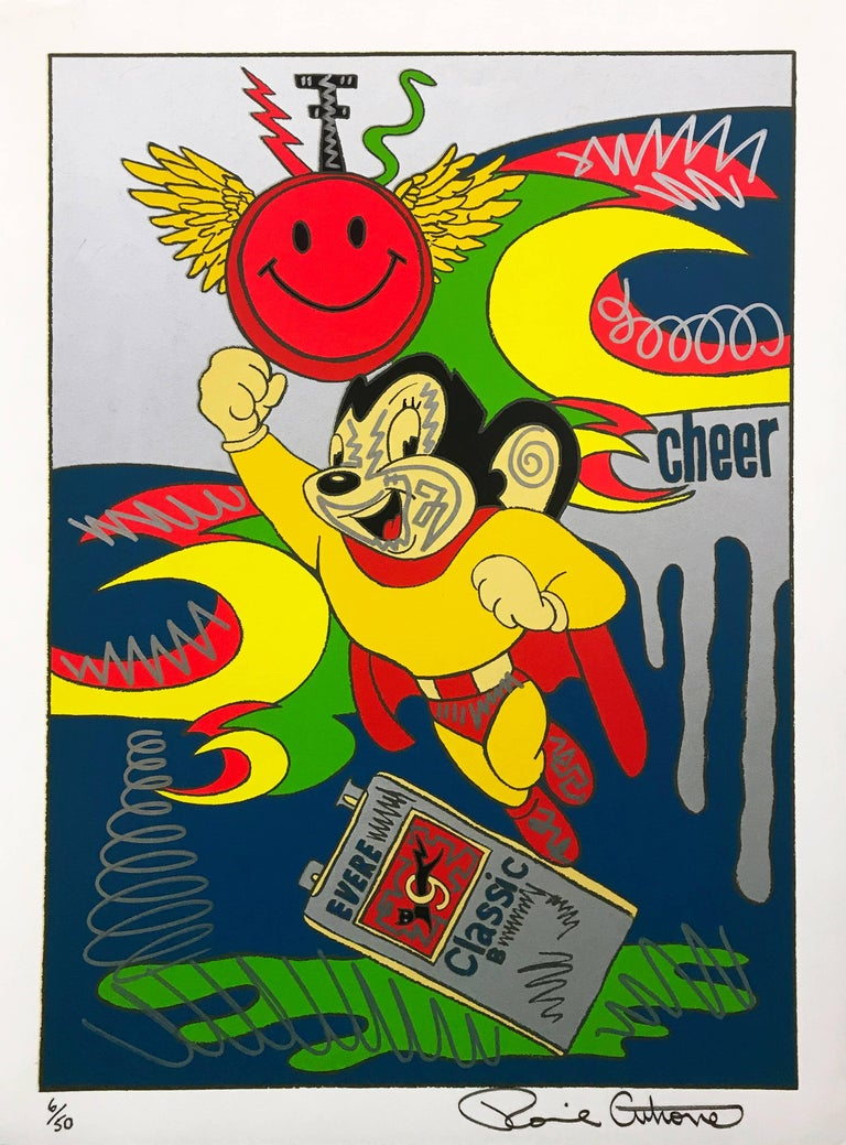 MIGHTY MOUSE (EMBELLISHED) - Art by Ronnie Cutrone