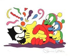"Ronnie Cutrone-No Glove, No Love-32"" x 40""-Serigraph-1988-Pop Art-Multicolor-car"
