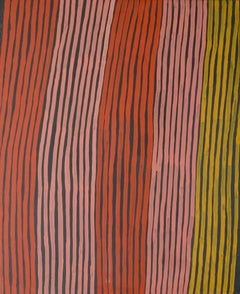 'Bushfire Dreaming' 1994  Australian Aboriginal Art by Ronnie Tjampitjinpa