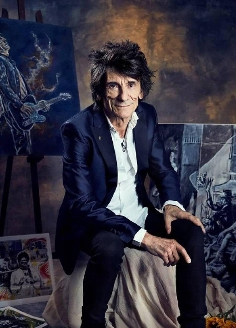 Ronnie Wood: Artist, Limited Edition Signed Book and Print Set For Sale 8